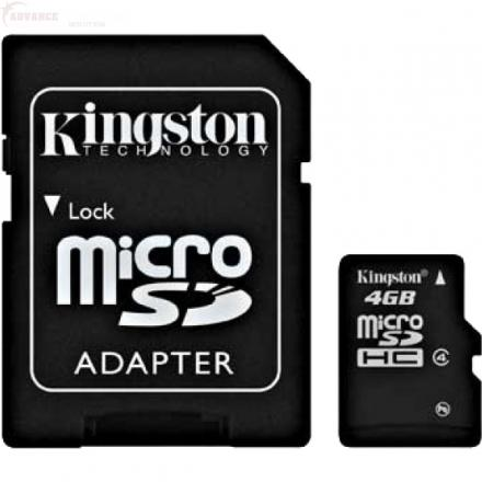 Micro SD 4GB + SD Adaptér