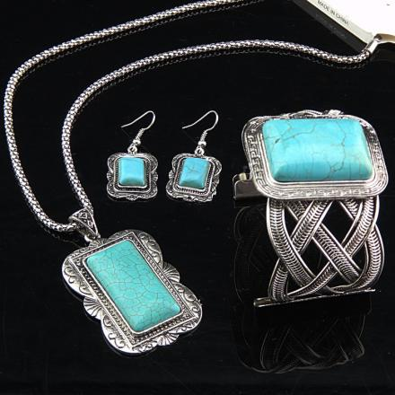 Set Big Antique Turquoise - Tyrkysová